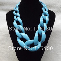 New Statement Chunky Choker Necklaces & Pendants Exaggerated Big Chain Collar Necklace Women Fashion Jewelry