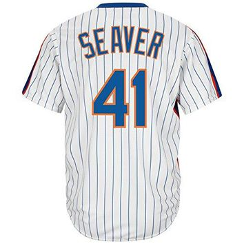 Tom Seaver New York Mets Cool Base Cooperstown Jersey