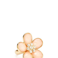 Rhinestone Floral Cocktail Ring