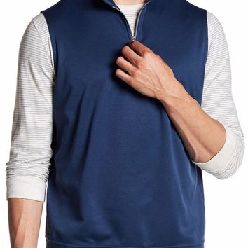 New with Tag - Peter Millar E4 Warmth Meade Midnight 1/4 Zip Men's Vest