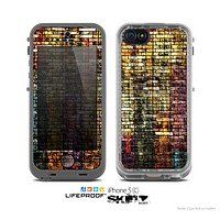 The Grungy Dark Small Tiled Skin for the Apple iPhone 5c LifeProof Case