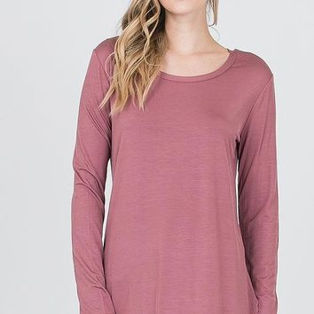 The Perfect Long Sleeve Top - Dusty Rose