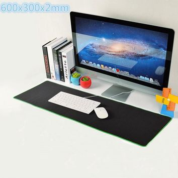 600x300x2mm Gaming Mouse Pad Large Anti-Slip Rubber Keybord Mat Extended Edition Locking Edge Computer Mousepad for PC Gamer