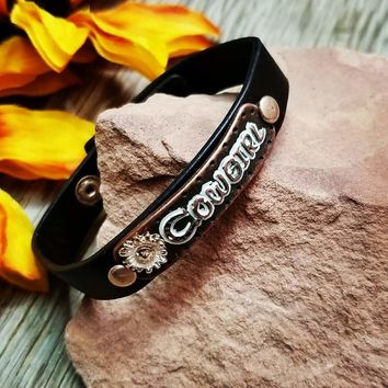 Cowgirl Leather Snap Bracelet