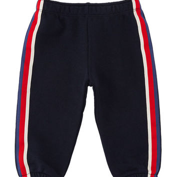 Gucci Web-Trim Jogging Pants, Size 3-36 Months