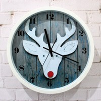 accessoryinlove — Pastoral White Deer Wall Clock