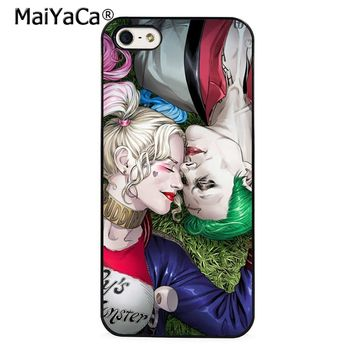 MaiYaCa Joker Harley Quinn Suicide Squad Phone Case Cover for iPhone 5 5s 6 6s 7 8 Plus X soft case for samsung S6 S7 S8 edge