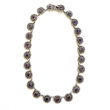 1980s Sterling and Amethyst Necklace