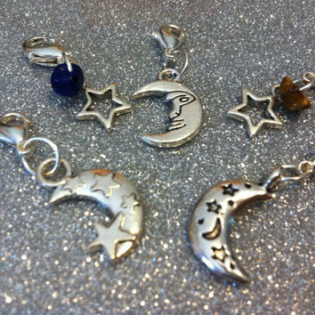 Clip On Moon and Star Witches Familiar / pet by BlackCatCorner1