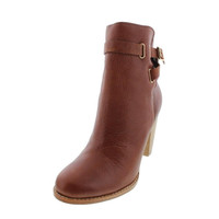 Joie Womens Leather Round Toe Ankle Boots