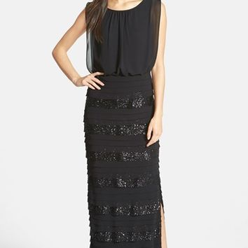 Women's Aidan by Aidan Mattox Sequin Chiffon Gown,