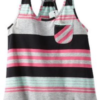 Roxy Big Girls' Fade Away, Heritage Heather Stripe, Small