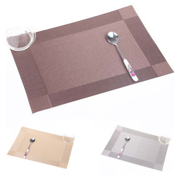 Kitchen Placemat pvc dining table mat disc pads bowl pad coasters waterproof table cloth pad slip-resistant pad