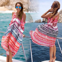 Chiffon Bikini Dress One Piece Dress [4970294532]