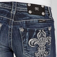 Miss Me Embroidered Fleur Boot Stretch Jean - Women's Jeans | Buckle