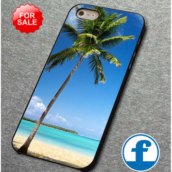 Palm Tree On The Beach for iphone, ipod, samsung galaxy, HTC and Nexus Phone Case