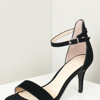 Two Strap Low Heel Black
