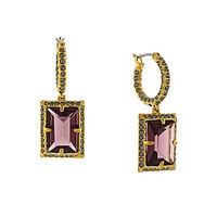 Louise et Cie Rectangle Stone and Pave Drop Earrings