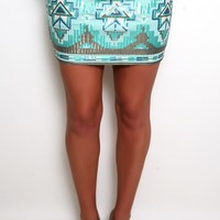 Treasure of the Aztec Skirt in Mint