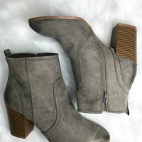 Riverbanks Taupe Bootie