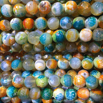 dyed faceted agate gemstone beads -  faceted agate round beads -  agate beads supplies - agate jewelry beads -15 inch