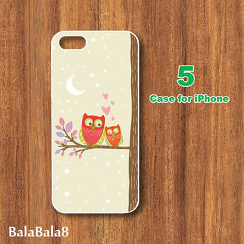 iPhone  4 case, iphone 5 Case -- Cute Owl iPod touch case ,ipod case, Samsung Galaxy S3 , S2 , Galaxy Note 2 case