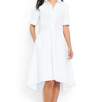 Women's Short Sleeve Popover Shirtdress