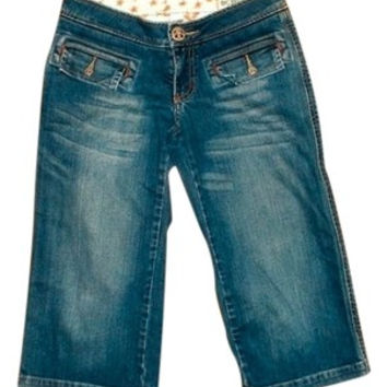 Bcbg Girls Denim Cropped Jeans Capris Size 25 P464