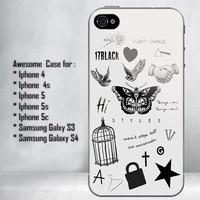 Harry Styles Tattoos for iPhone 4/4S/5/5S/5C and Samsung Galaxy S3/S4