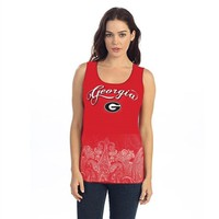 Georgia Border Print Tank Top | UGA Tank Top | Georgia Bulldogs Tank Top