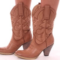 Embroidered Cowboy Boot