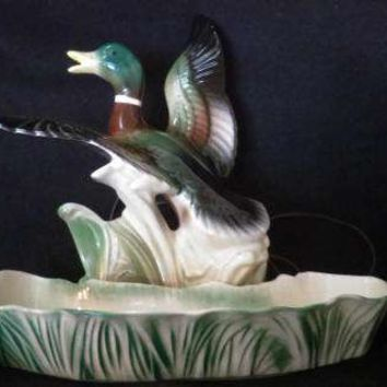 Mallard Duck TV Lamp and Planter By Lane and Company of California  (1242)