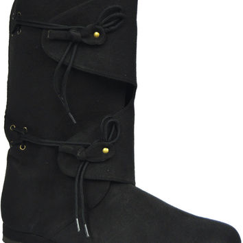 costume shoes: boots renaissance - black | medium