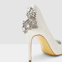 Pointed embellished court shoes - Ivory | Shoes | Ted Baker