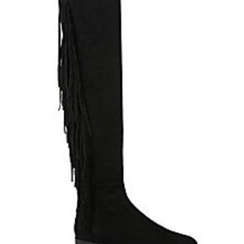 Stuart Weitzman - Mane Fringed Suede Over-The-Knee Boots - Saks Fifth Avenue Mobile