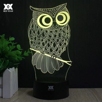 Owl 3D Lamp R2-D2 elk LED Remote Control Night Light USB Animal Decorative Table Lamp Interesting Gift HUI YUAN Brand
