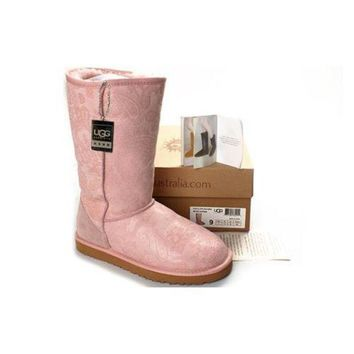Gotopfashion Ugg Boots Black Friday Classic Patent Paisley 5852 Pink For Women 106 12