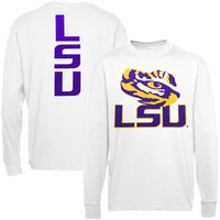 Majestic LSU Tigers Distinctive Edge Long Sleeve T-Shirt - White
