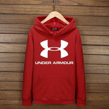 CREYV9O Under Armour Fashion Print Cotton Long Sleeve Sweater Pullover Hoodie Sweatshirt Red G-YSSA-Z