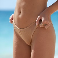 Free People The Old Fashioned Ribbed Brief Bikini Bottom