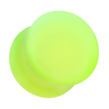 Glow in the Dark Acrylic Double Flared Ear Gauge Plug