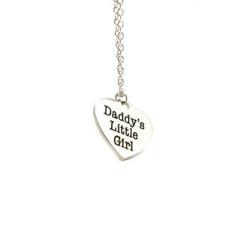 Daddy's Little Girl Necklace, Charm Necklace, Delicate Necklace, Silver Necklace, Gift Under 20, Daddy's Girl Necklace, Daddy's Girl Jewelry