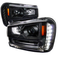 02-09 CHEVY TRAILBLAZER HEADLIGHT PROJECTOR HEADLIGHT BLACK HOUSING