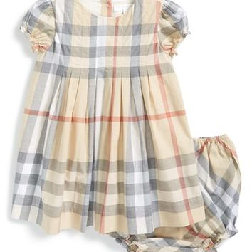 Toddler Girl's Burberry 'Ellalu' Check Print Dress & Bloomers,