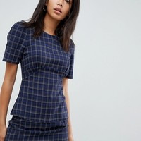 Fashion Union Tall Short Sleeve Top In Check at asos.com