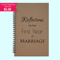 Reflections On Our First Year Of Marriage - Journal, Book, Custom Journal, Sketchbook, Scrapbook, Extra-Heavyweight Covers