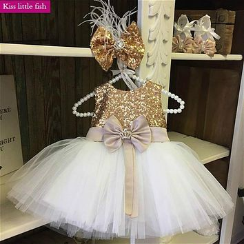Free shipping  Baby girls dresses for party and wedding Pageant dresses for girls glitz  Free custom made