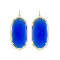 Kendra Scott Danielle Drop Earrings Cobalt Cat's Eye