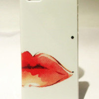 Sexy Red lip pigmented naevus Hard Cover Case For Iphone 4/4s
