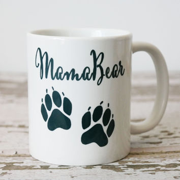 MamaBear Coffee Mug, Pregnancy Announcement